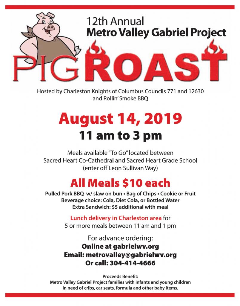 Metro Valley Gabriel Project Annual Pig Roast | Tri-Parish West Virginia